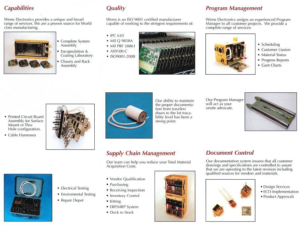 Contract Manufacturing Wems Electronics Electronic Circuit Board Assembly